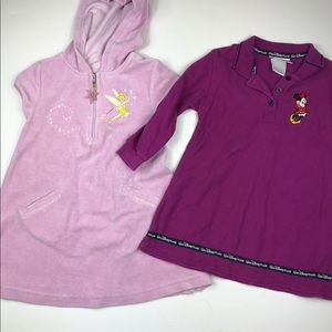 Lot of 2 Disney girls size 4 dress & cover up EUC